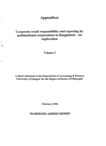 Doctoral thesis csr
