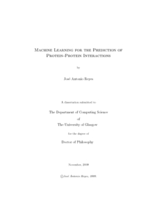 Phd thesis machine learning