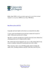Phd thesis on staphylococcus aureus