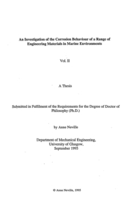 phd thesis in marine engineering Mae doctoral program (physical oceanography), 240 (marine chemistry), and 270a the dissertation defense is the final phd examination.
