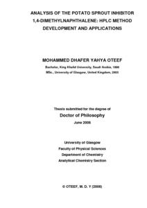 Phd thesis analytical method development validation
