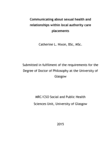 Phd thesis in health communication