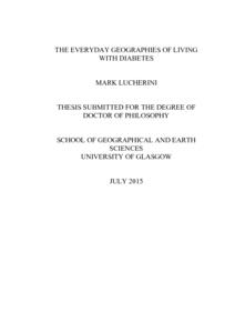 Phd thesis on diabetes