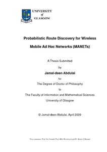 Phd thesis on mobile adhoc networks